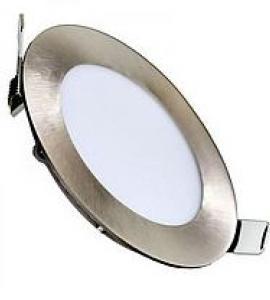 Светильник светодиодный встраиваемый ультратонкий 9W (никель)