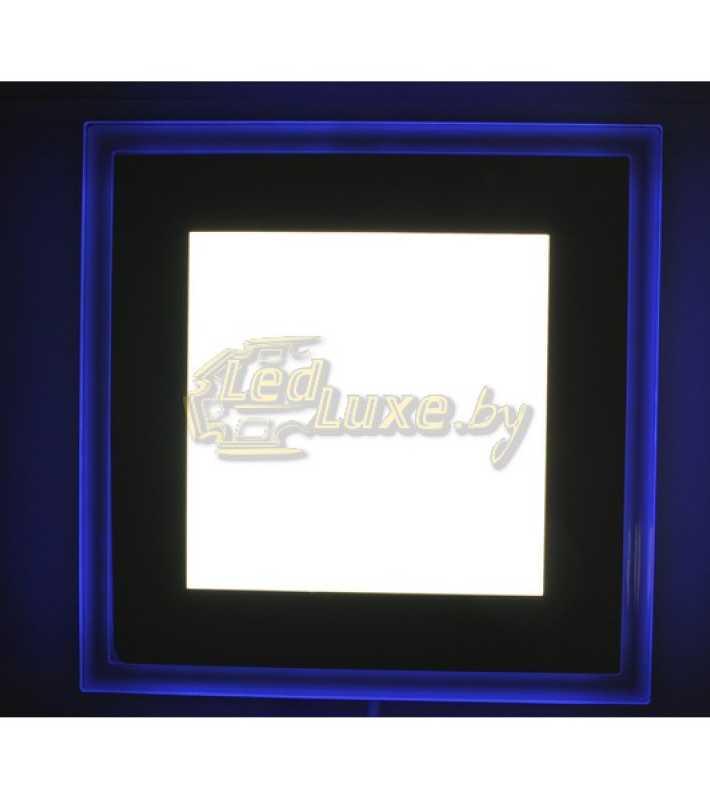 Светодиодная панель Синий Квадрат 18W: 180x180mm, (стекло) Артикул: 91109