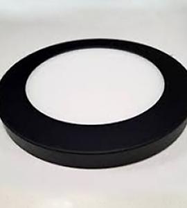 Декоративный накладной корпус, чёрный матовый (d165)