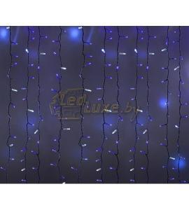 Светодиодная гирлянда Мерцающий дождь 2х1,5м, 360 LED, 220V (на белом или черном проводе) Артикул: 75314