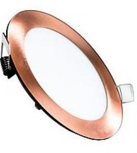 Светильник светодиодный встраиваемый ультратонкий 9W (медь)
