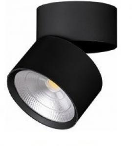 Светодиодный накладной светильник 15W (4000К, черный, белый) поворотный