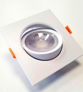 Светодиодный встраиваемый поворотный светильник 7W (квадрат)