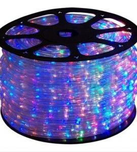 Мультицветный светодиодный дюралайт с эффектом бегущей волны, IP54, 13мм (36 диодов на метр) 220В Артикул: 75054
