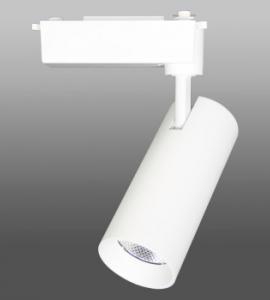 1.4  Светодиодный трековый светильник LED 30W 154 (25W, однофазный, белый корпус)