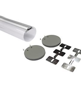 Круглый подвесной алюминиевый профиль S R30 anod