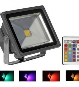 Светодиодный прожектор 20W, IP65, RGB