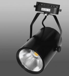 0.1.6 Светодиодный трековый светильник 30W 136 (30W, однофазный, черный корпус)