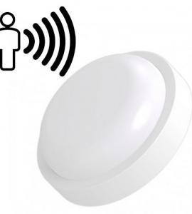Светильник светодиодный с датчиком освещенности круглый 8W, IP54