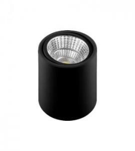 Накладной светодиодный светильник 10W, 800Lm, черный, поворотный