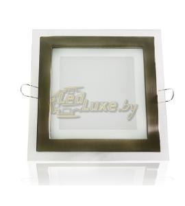 Светодиодная панель 12W: 160x160mm, квадрат (стекло) Артикул: 11731