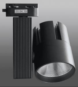 1.7 Светодиодный трековый светильник LED 20W 160 (20W, однофазный, черный корпус)