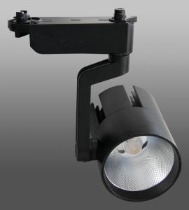Светодиодный трековый светильник 20W 140 (20W, однофазный, черный корпус)