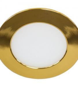 Светильник светодиодный встраиваемый ультратонкий 6W (золото)
