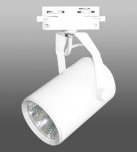 Светодиодный трековый светильник 10W 126 (10W, однофазный, белый корпус