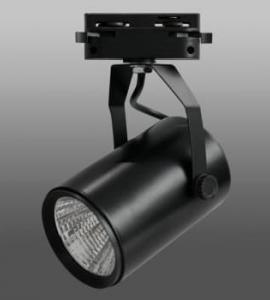 Светодиодный трековый светильник 10W 126 Black (10W, однофазный, черный корпус