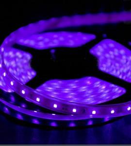 УФ светодиодная лента 5050, 300 Led, IP33