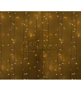 Светодиодная гирлянда Дождь 2х1,5м, 360 LED, 220V (на белом проводе) Артикул: 75301
