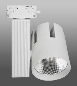 Трековый светодиодный светильник T-166 (40W, однофазный, черный, белый корпус) 73906
