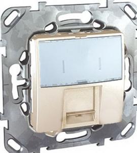 Компьютерная розетка 1хRJ45 кат. 5е, с полем для надписи