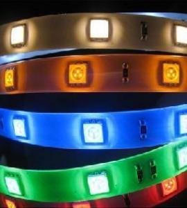 1.0 Светодиодная RGB-лента SMD 5050, IP33, 12V (30 диодов на метр)
