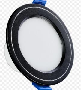 Cветильник светодиодный точечный 5W, черный с серебристой полоской