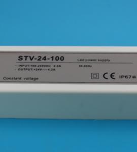 Блок питания для светодиодных лент 24-100 (24V, 100W, 4.16A, IP67)