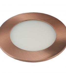 Светильник светодиодный встраиваемый ультратонкий 6W (медь)