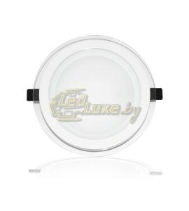 Светодиодная панель 16W: 200x200mm, круг (стекло) Артикул: 02896