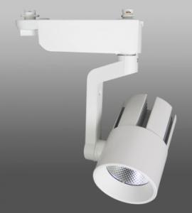 Светодиодный трековый светильник 30W 144 (30W, однофазный, белый, черный корпус) 73884