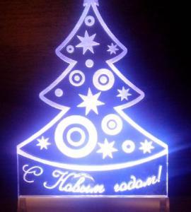 Сувенир Ночной светильник Елочка RGB