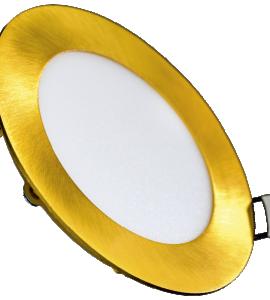 Светильник светодиодный встраиваемый ультратонкий 9W (золото)