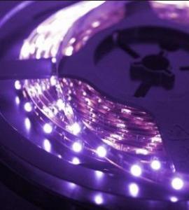 Ультрафиолетовая светодиодная лента 3528, 300 LED, IP33