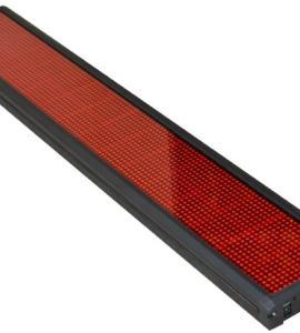 Светодиодный дисплей (бегущая строка), красного цвета , IP33, 50W (132х26х5 см) Артикул: 22100
