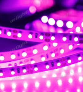 0.0.3 Светодиодная лента 3528 розового свечения, IP33 (120 диодов на метр)