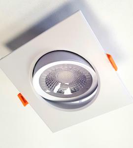 Светодиодный встраиваемый поворотный светильник 12W (квадрат)