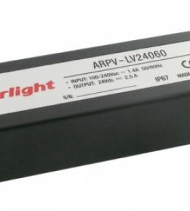Блок питания для светодиодных лент 24-60 (24V, 60W, 2.5A, IP67)