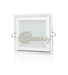 Светодиодная панель 12W: 160x160mm, квадрат (стекло) Артикул: 02810