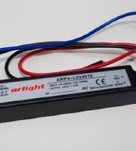 Блок питания для светодиодных лент 24-12 (24V,12W, 0.5A, IP67)