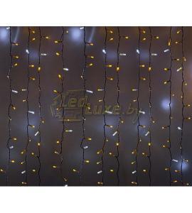 Светодиодная гирлянда Мерцающий дождь 2х1,5м, 360 LED, 220V (на белом или черном проводе) Артикул: 75313